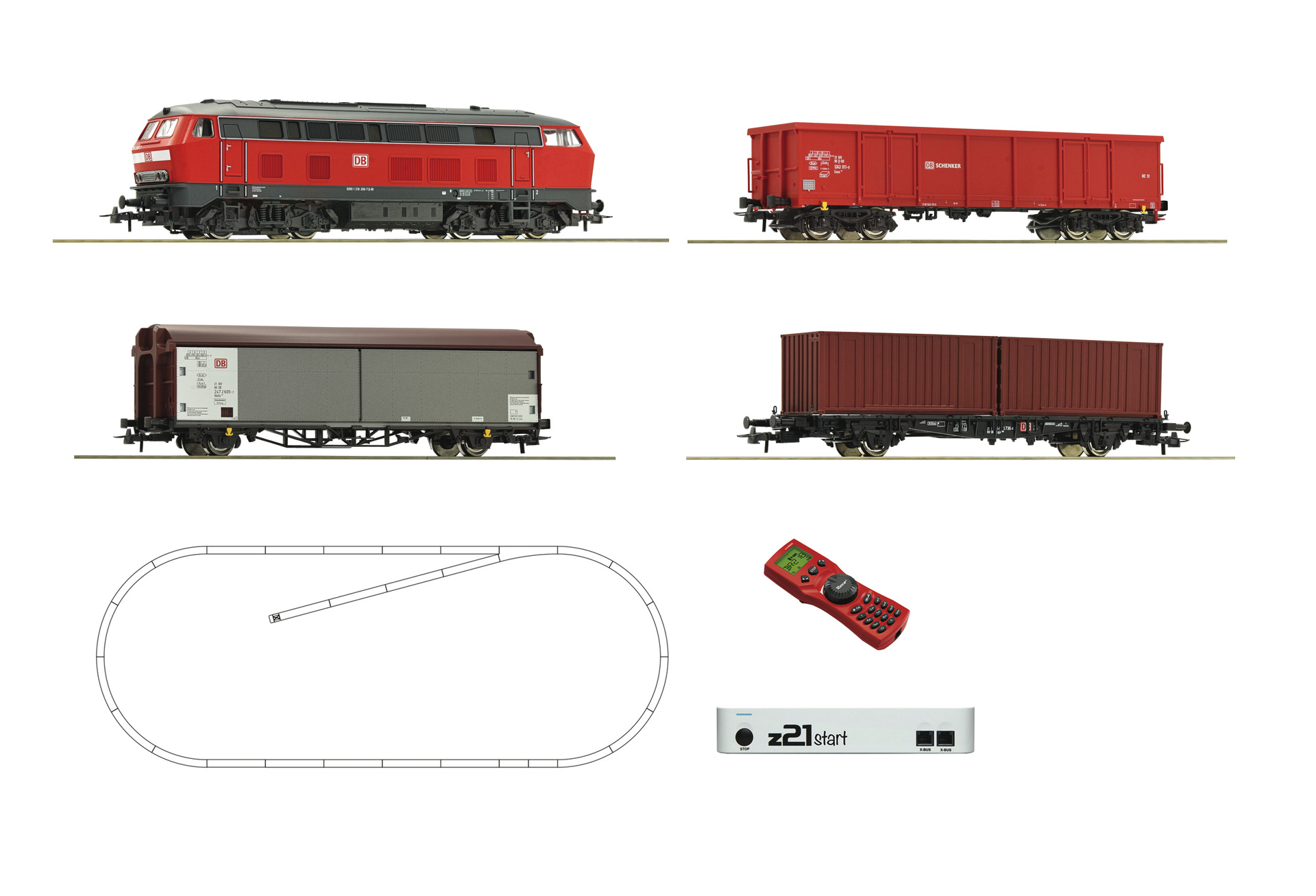 Roco DBAG BR218 Freight Starter Set VI (DCC-Fitted)