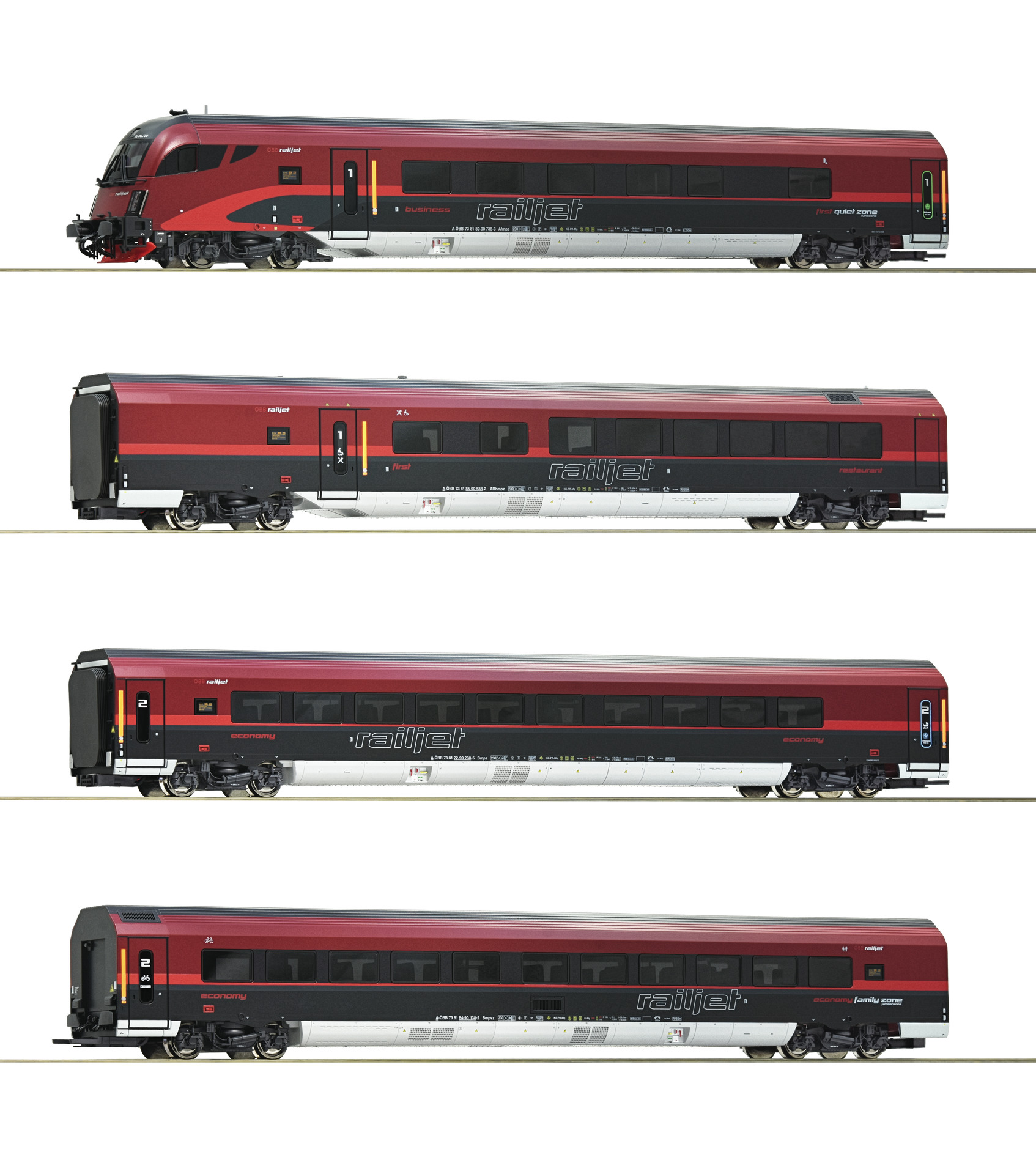 Roco 74083 - 4 piece set ''Railjet'', ÖBB