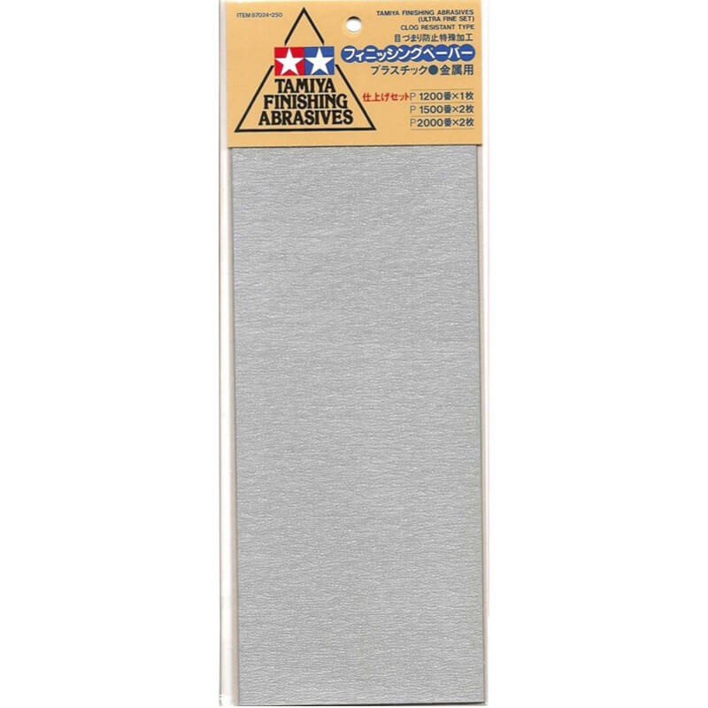 Tamiya P1200 Finishing Abrasive Sheets