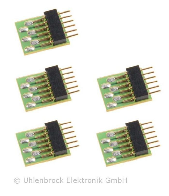 Uhlenbrock 5-piece 6-pin connector NEM 651
