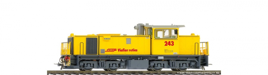 Bemo 1389 103RhB Gmf 4/4 243 Diesel locomotive with loco sound
