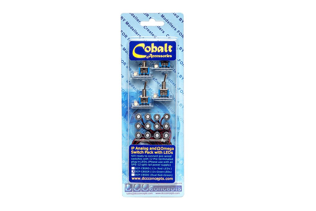 Cobalt iP Analogue and Omega Switch Pack with LEDs (GREEN)