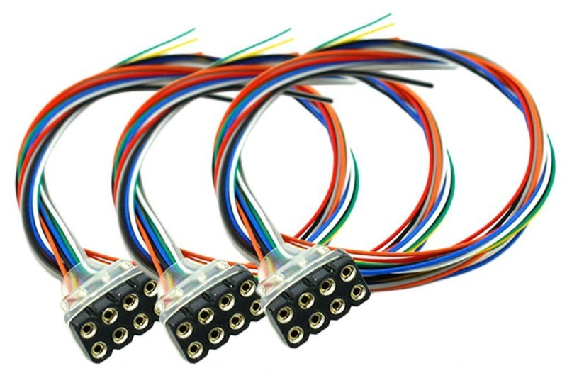 DCC Concepts 8PF3 - Decoder Harness, Female 8-pin NEM652 pre-wired (3pk)