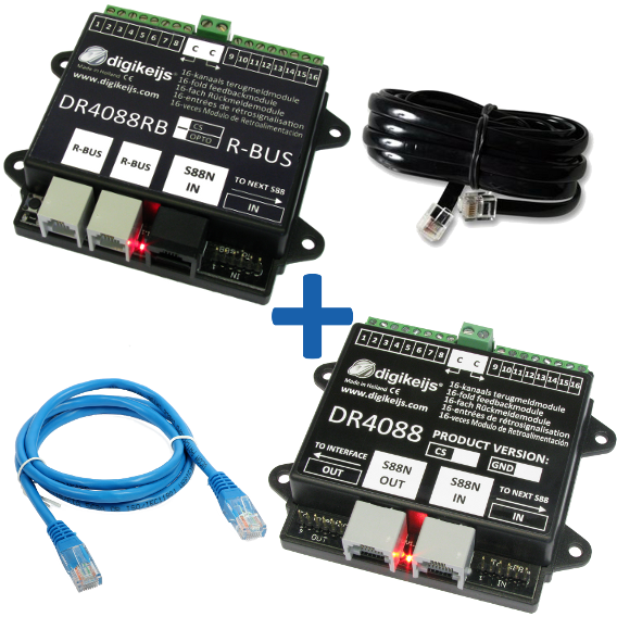 Digikeijs DR4088RB-CS_BOX RBUS Complete Starter Kit with 32 reporting points