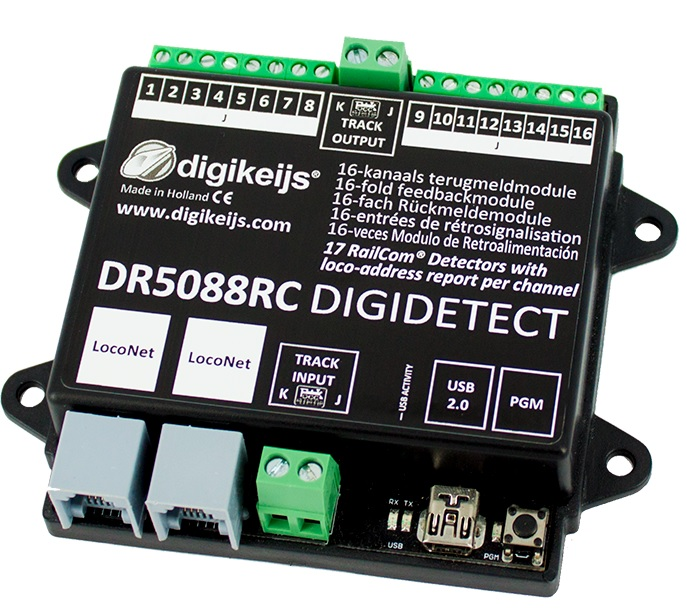 Digikeijs  DR5088RC DIGIDETECT 16 fold feedback detector with RailCom