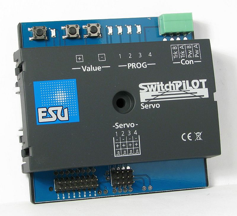 ESU 51822 SwitchPilot Servo V2.0, 4 twin servo decoder, DCC/MM, RailCom