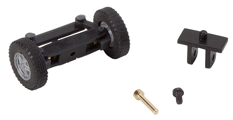 Faller 163014 Front axle, completely assembled for TT bus (with wheels).
