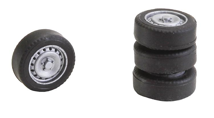 Faller 163108 4 tyres and rims for Sprinter / T5.