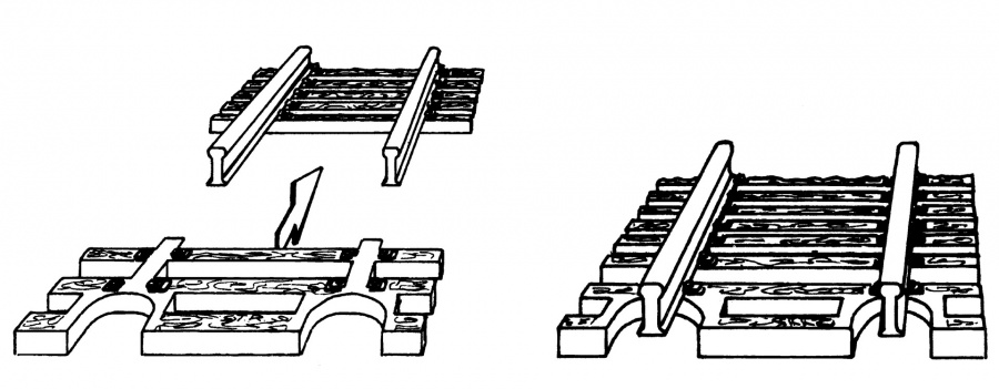 Fleischmann 22215 - Sleeper sections for the ends of flexible track.