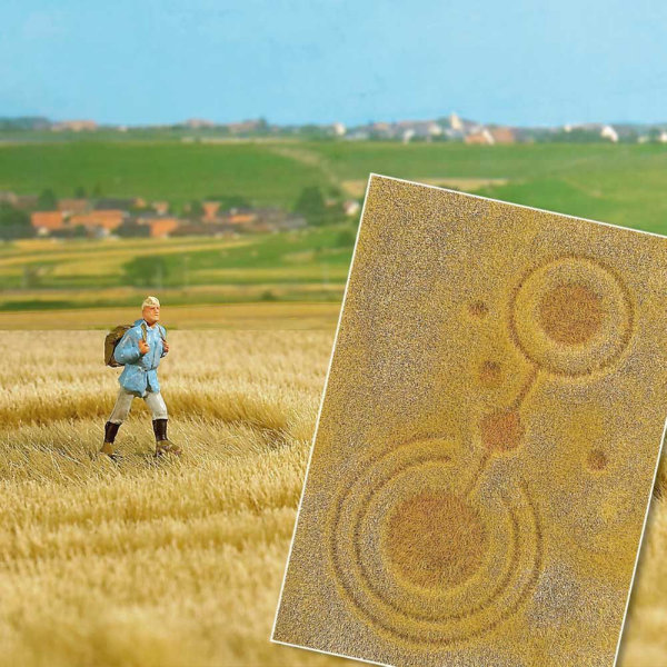 Grain field With Crop Circles   Fibre mat 297x210mm