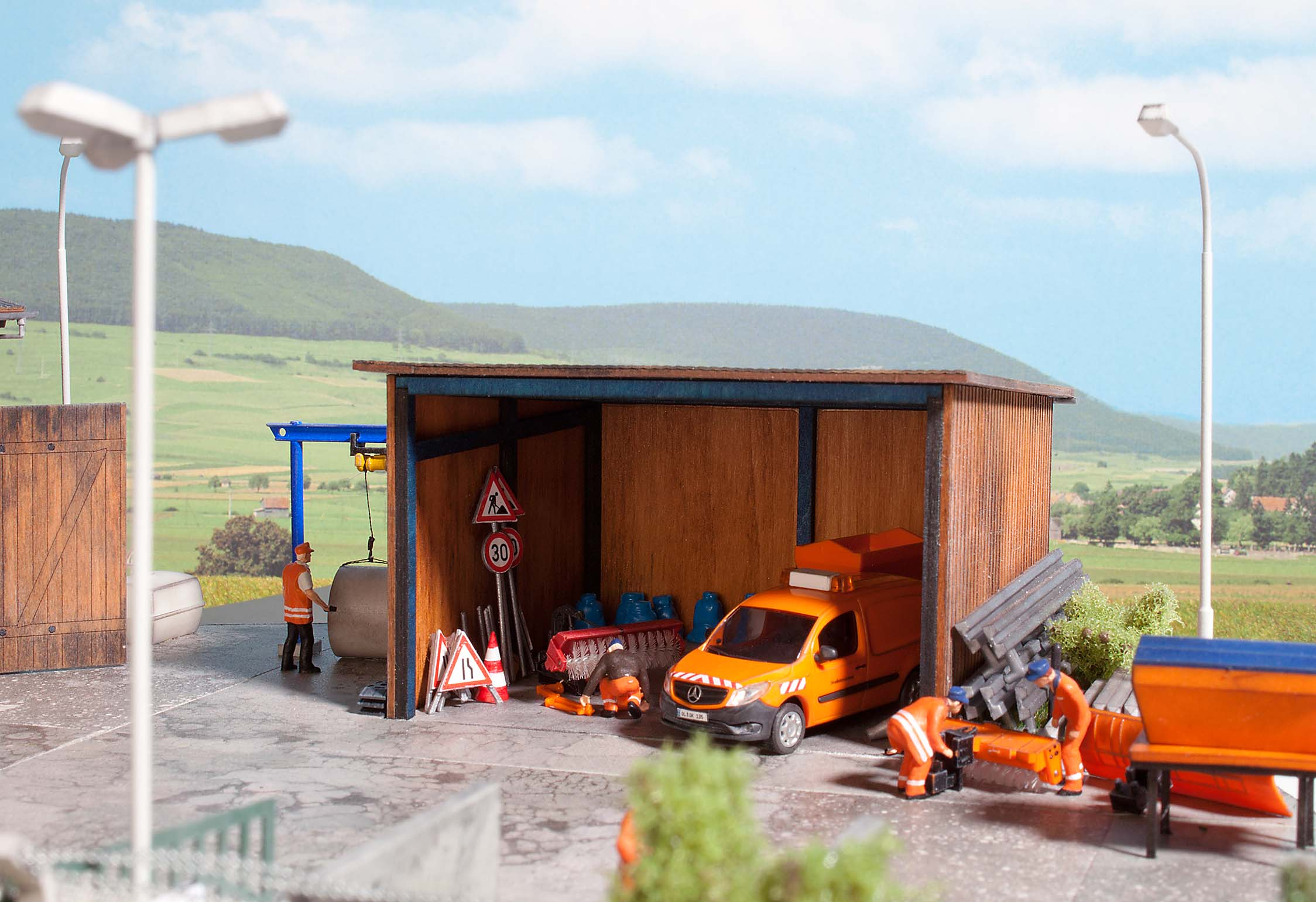 Highways lorry depot and stalls   kit