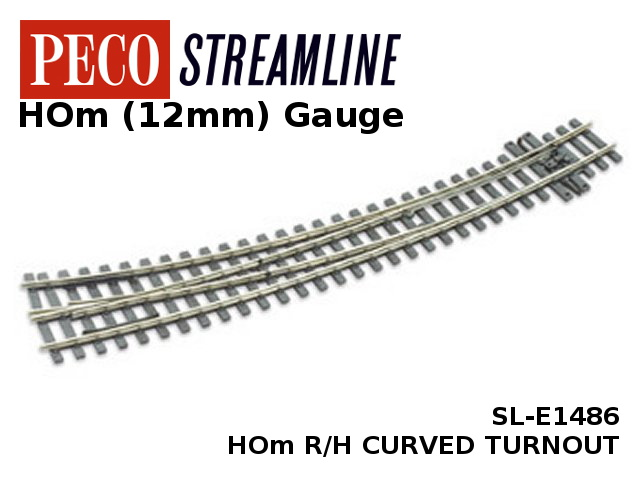 Peco SL-E1486 R/H Curved Turnout