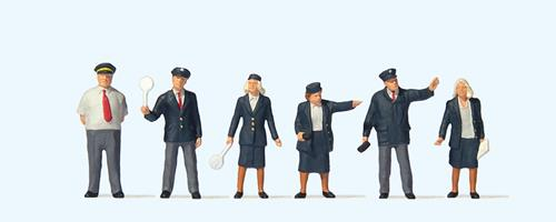 Preiser 73005 British Rail Staff (6) British OO Scale Figure Set