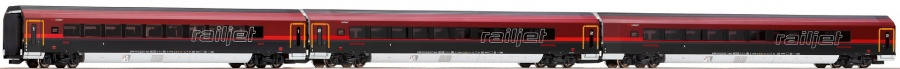 Roco 64183 OBB Railjet RJ162 Coach Set (3) Interior Lighting VI (~AC)