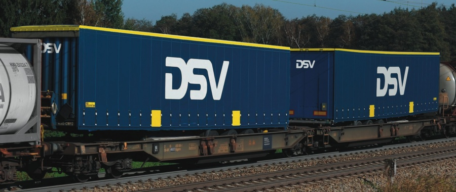 Roco 67391 CargoNet DSV Double Container Wagon V