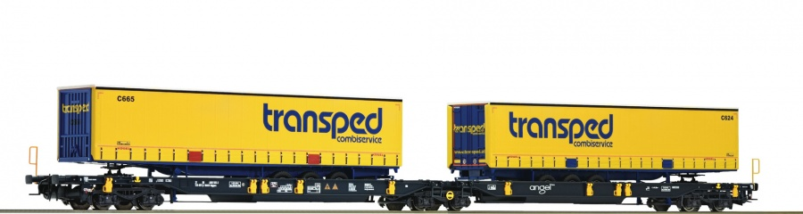 Roco 67409 Transped Double Container Wagon VI