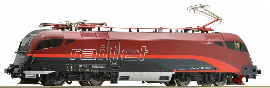 Roco 73234 OBB Rh1116 Railjet Electric Locomotive VI (DCC-Video)