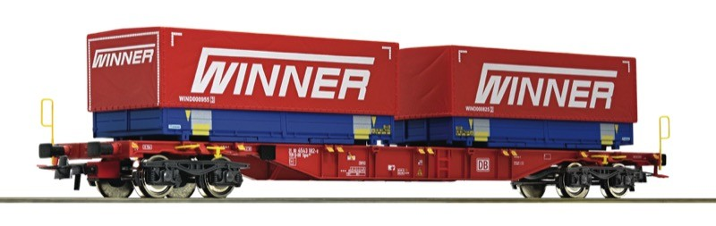 Roco 76621 DB AG Container carrier wagon