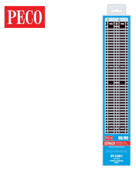 PECO ST-2001 Setrack OO/HO Code 100 Double Straight Pack (8 x ST-201)
