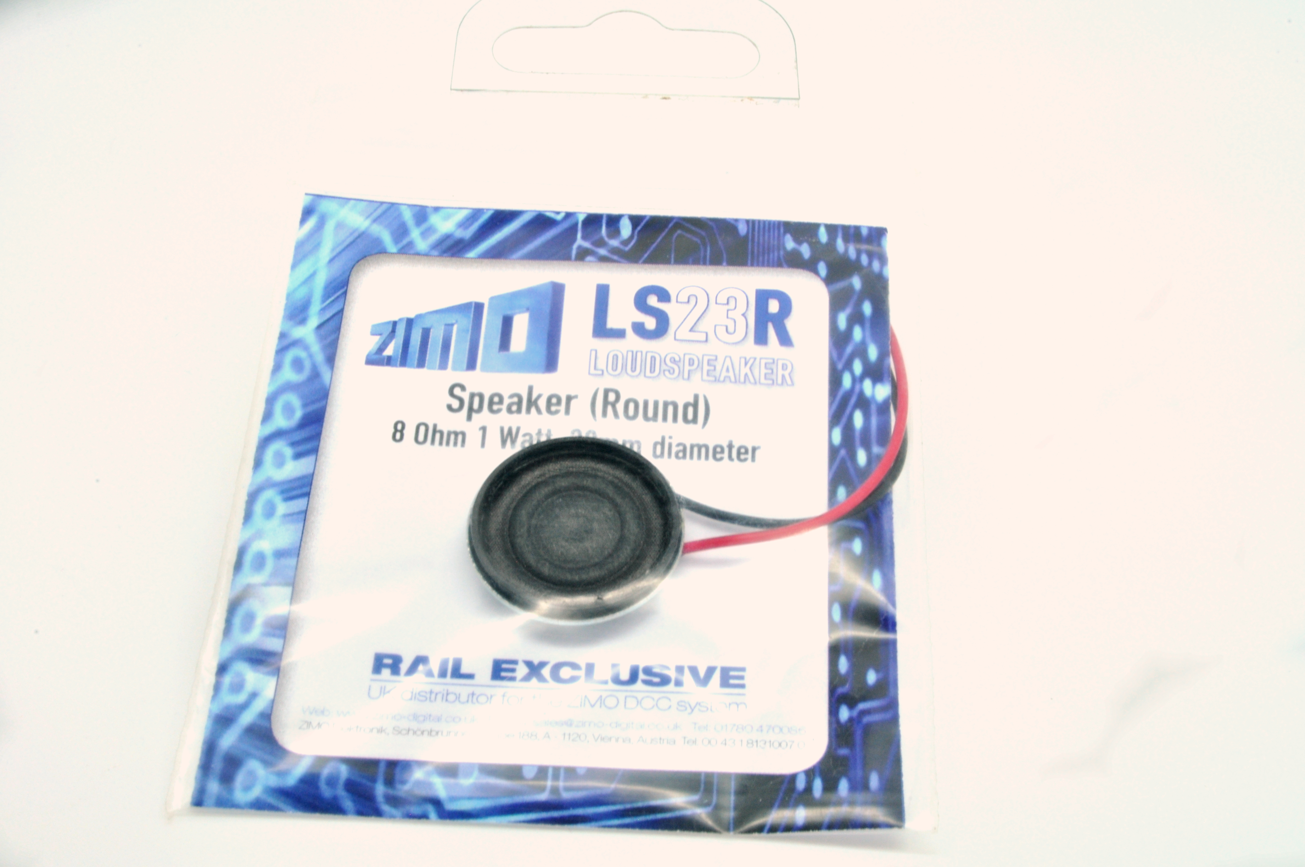 Zimo LS23R Speaker 8 Ohm 1Watt 23mm