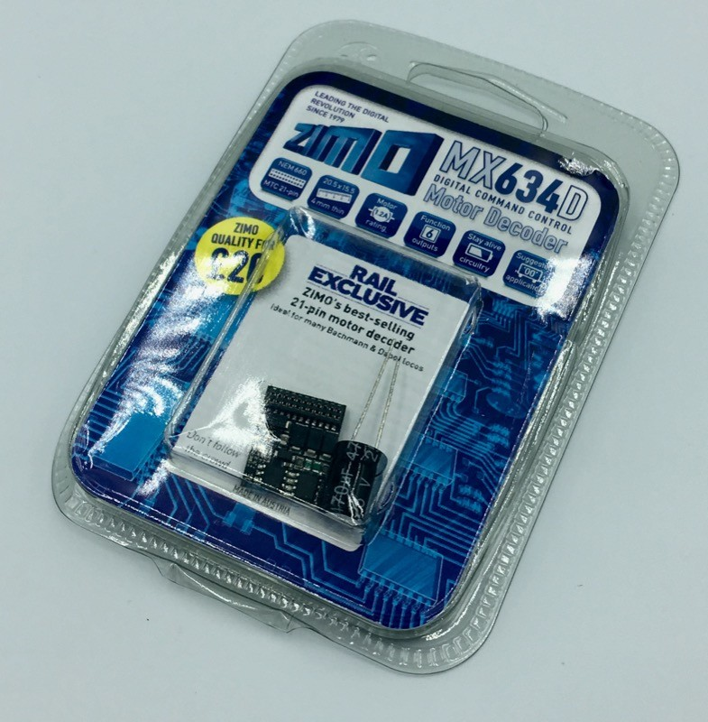 Zimo MX634D  21 pin MTC decoder