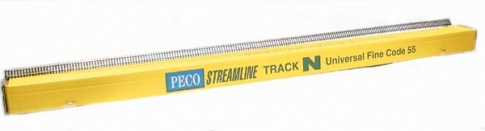 Peco Products SL-300F 1 yard (91.5cm) length of Finescale Nickel Silver flexible Wooden Sleeper track