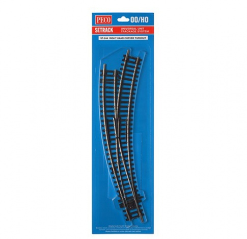 Peco ST-244 Setrack curved double radius right handed point