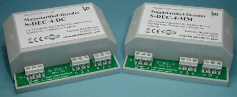 LDT S-DEC-4 4-fold turnout decoder for DCC Digital as a finished module