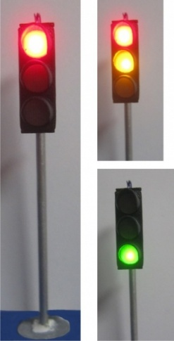 Traffic lights, red / yellow / green, 1 piece