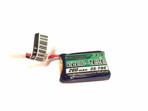 Turnigy nano-tech 260mAh 1S 35-70C Lipo Pack