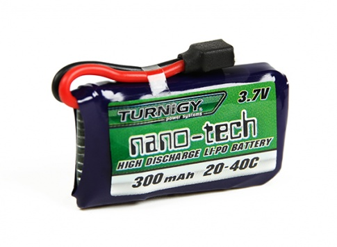 Turnigy nano-tech 300mAh 1S 20~40C Lipo Pack