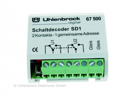 Uhlenbrock 67500 SD 1 accessory decoder