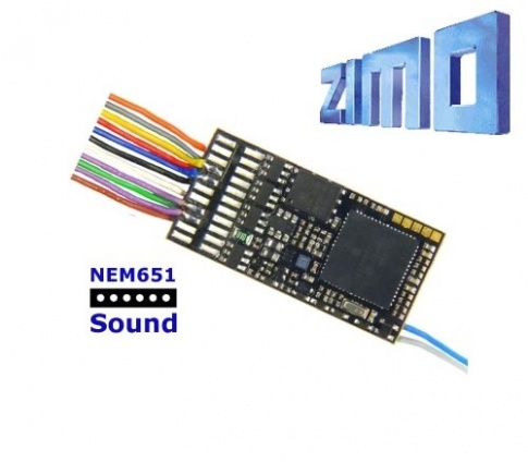 Zimo MX645F As MX645 with wired 6 pin NEM 651 plug