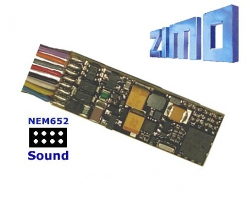 Zimo MX646R As MX646 with wired 8 pin NEM 652 plug