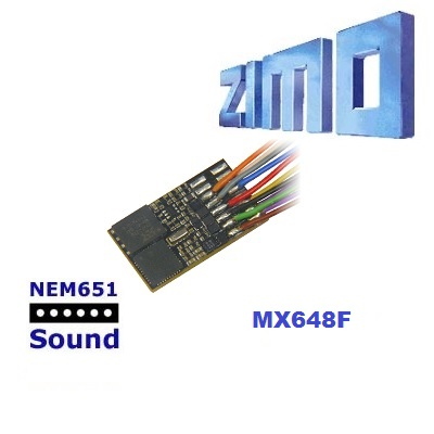 Zimo MX648F As MX648 with wired 6 pin NEM 651 plug