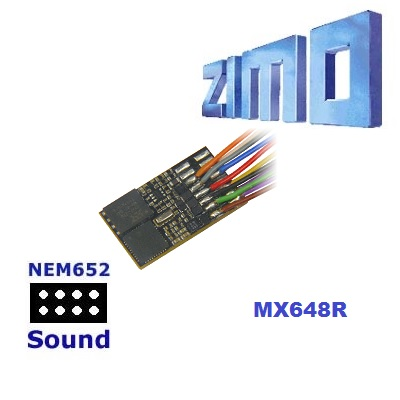 Zimo MX648R As MX648 with wired 8 pin NEM 652 plug